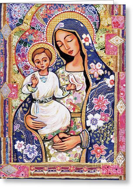 Panagia Eleousa Greeting Card by Eva Campbell