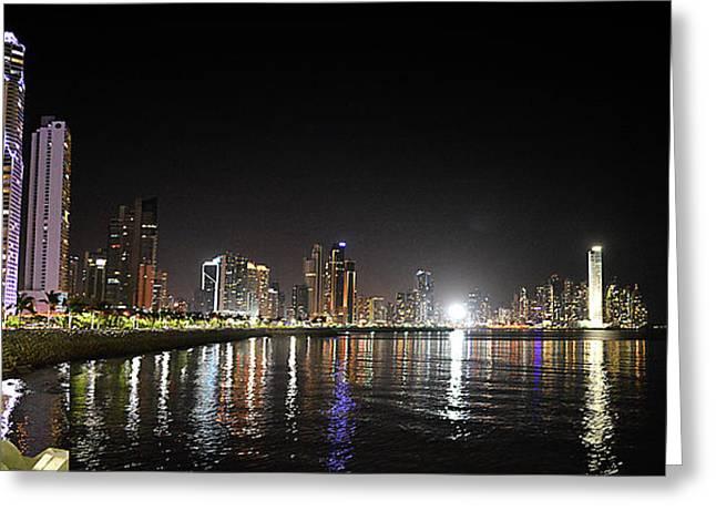 Panama City Night Greeting Card