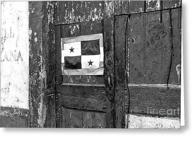 Panama Pride Mono Greeting Card by John Rizzuto