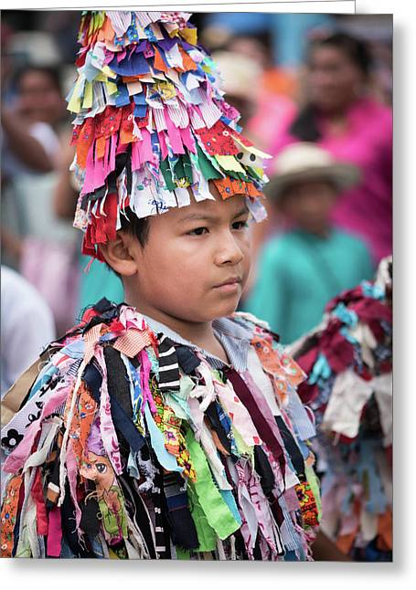 Panamanian Boy In Traditonal Costume Greeting Card