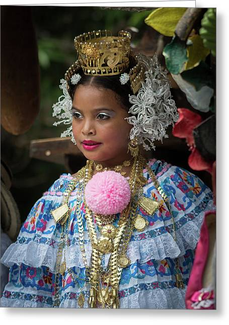 Panamanian Queen Of The Parade Greeting Card