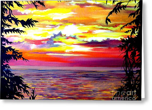 Panama.pacific Sunrise Greeting Card