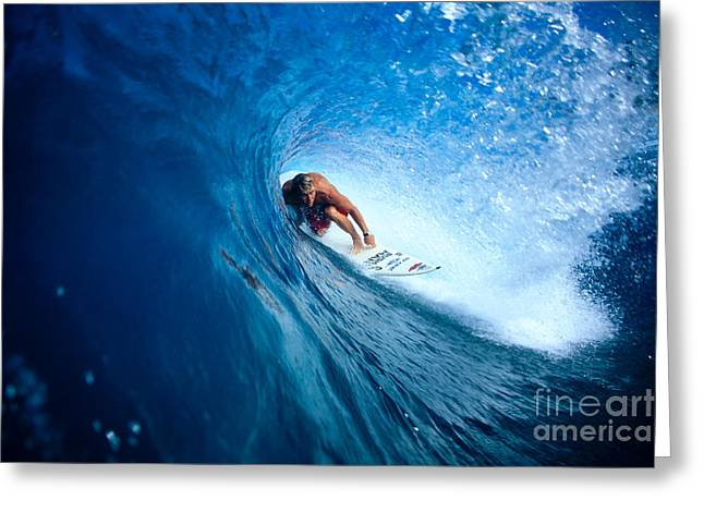 Pancho In The Tube Greeting Card by Vince Cavataio - Printscapes