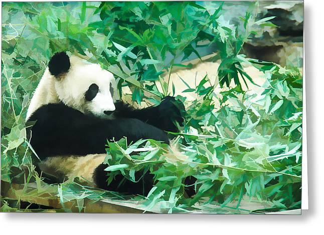 Panda 1 Greeting Card by Lanjee Chee
