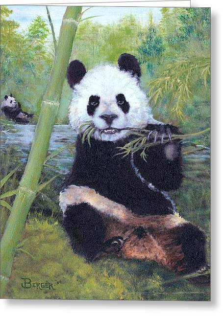 Panda Buffet Greeting Card