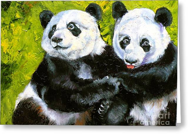 Panda Date Greeting Card