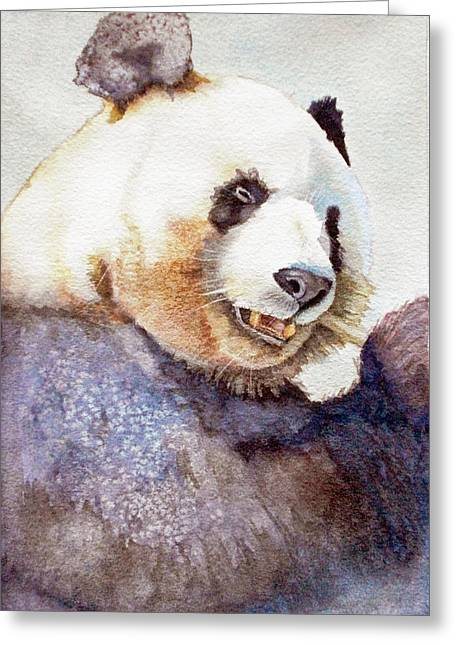 Panda Eating Greeting Card