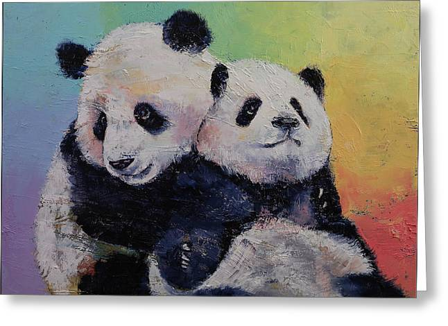 Panda Hugs Greeting Card