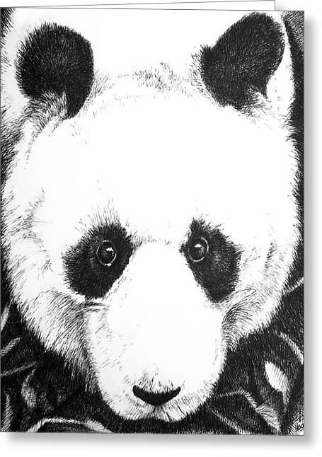 Panda Portrait Greeting Card