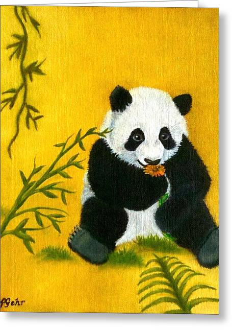 Panda Power Greeting Card