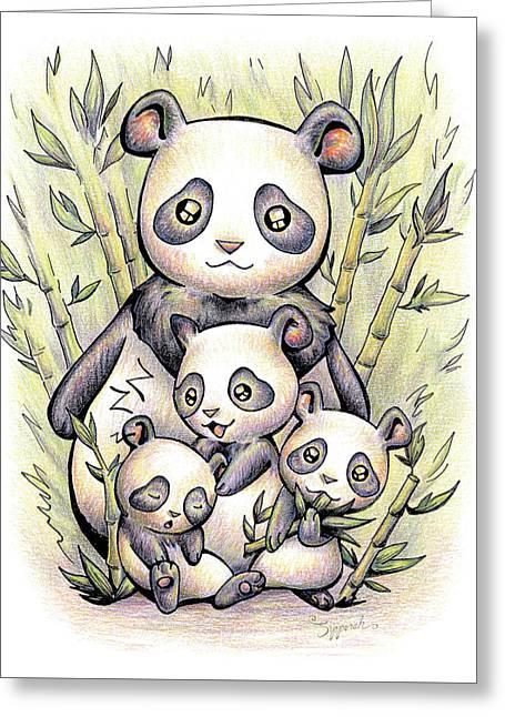 Endangered Animal Giant Panda Greeting Card