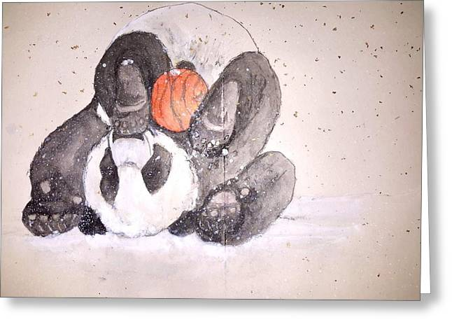 Pandamonium Album Greeting Card by Debbi Saccomanno Chan