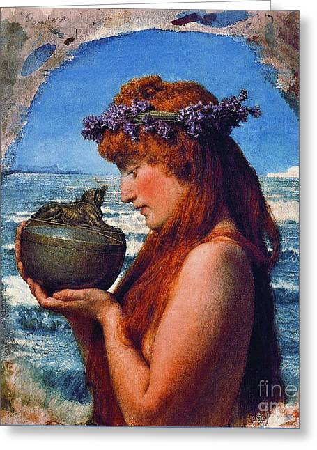 Pandora 1881 Greeting Card by Padre Art