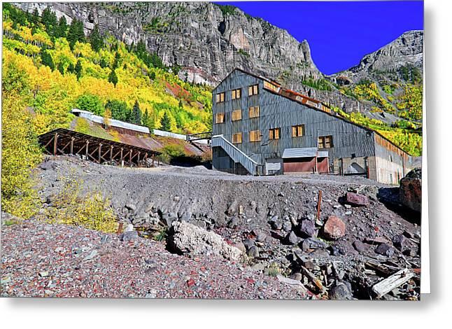 Pandora Mill - Telluride - Colorful Colorado Greeting Card by Jason Politte
