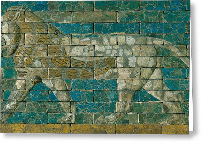 Panel With Striding Lion Greeting Card by Babylonian School