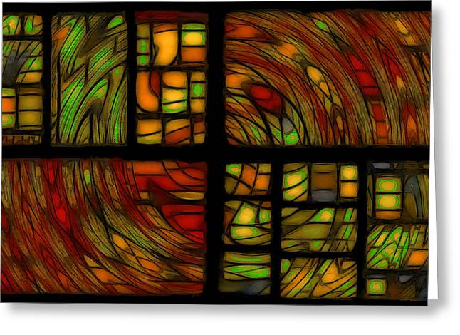 Panels Greeting Card by Jean-Marc Lacombe