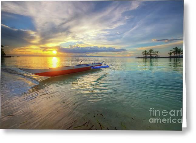 Panglao Island Sunset Greeting Card