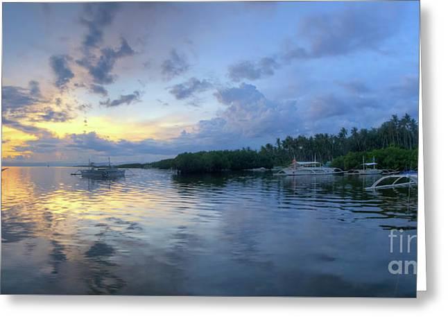 Panglao Port Sunset 11.0 Greeting Card
