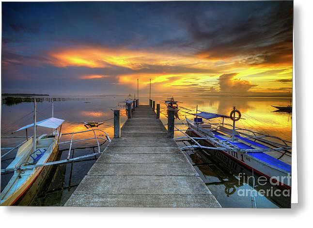 Panglao Port Sunset 8.0 Greeting Card by Yhun Suarez