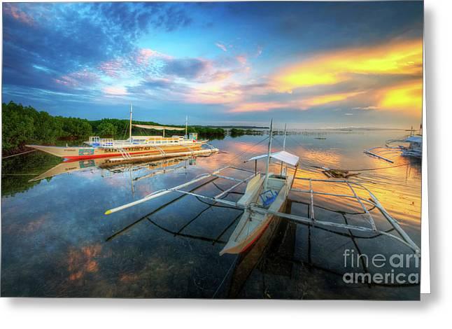 Panglao Port Sunset 9.0 Greeting Card by Yhun Suarez