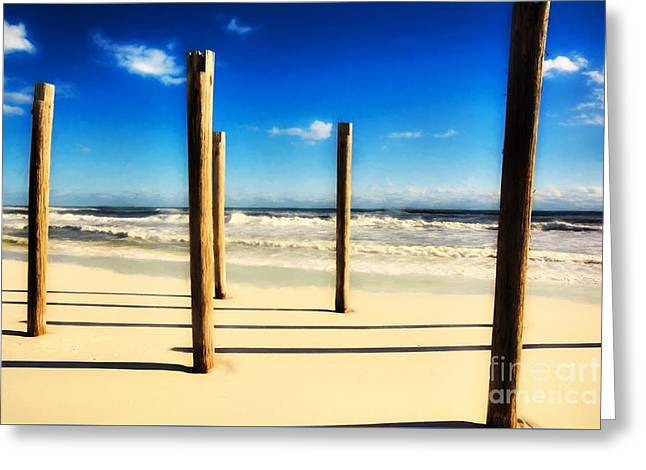 Panhandle Poles Greeting Card by Mel Steinhauer