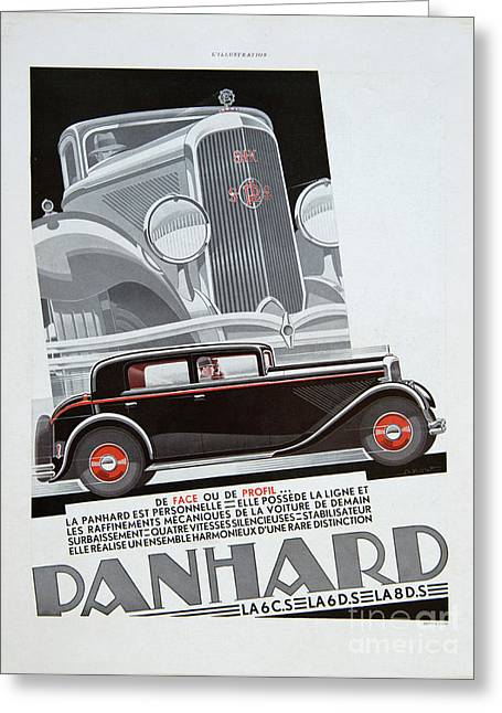 Greeting Card featuring the photograph Panhard #8703 by Hans Janssen
