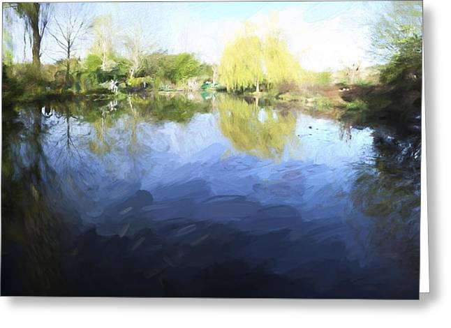 Panorama 2 Of Monets Garden In Giverny Greeting Card by David Smith
