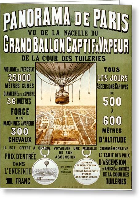 Panorama De Paris Greeting Card