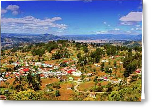 Panorama From Pachamama To Cuenca Greeting Card