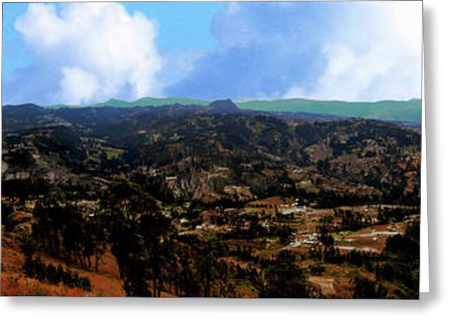 Panorama From Pachamama V Greeting Card