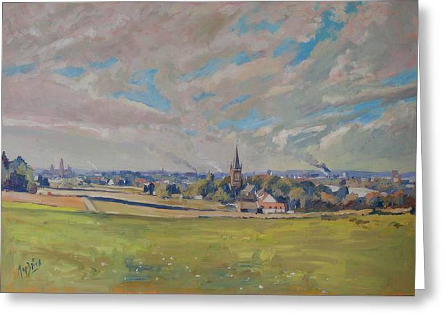 Panorama Maastricht Greeting Card by Nop Briex