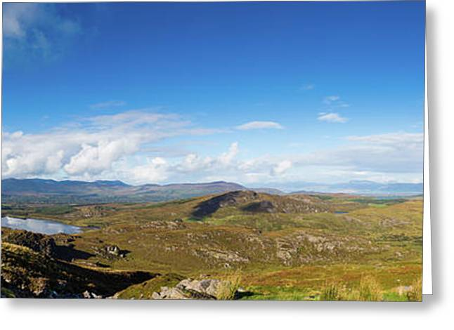 Panorama Of Ballycullane And Lough Acoose In Ireland Greeting Card by Semmick Photo