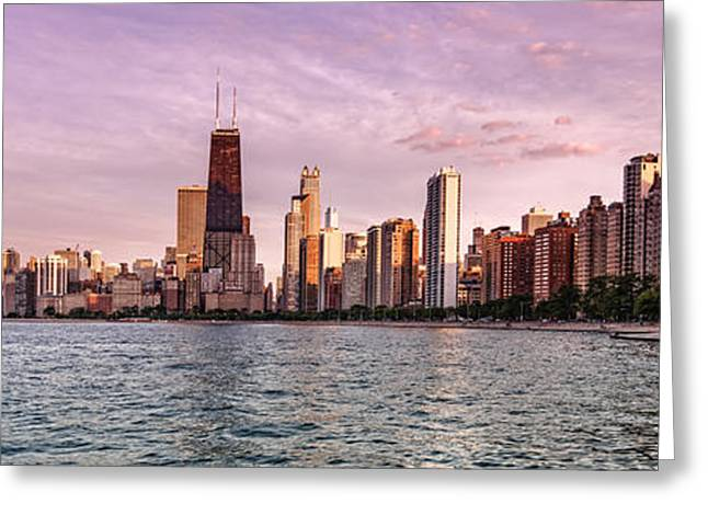 Panorama Of Chicago From North Avenue Beach Lincoln Park - Chicago Illinois Greeting Card