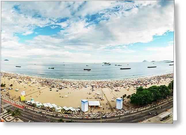 Panorama Of Copacabana, Rio De Janeiro, Brazil  Greeting Card