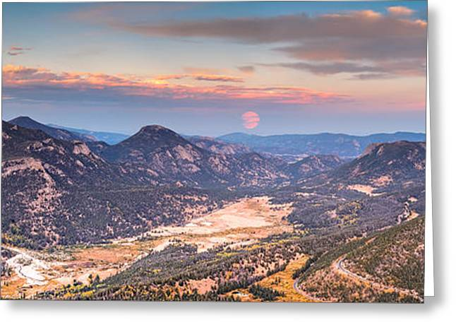 Panorama Of Fall River Road From Rainbow Curve Overlook - Rocky Mountain National Park - Estes Park Greeting Card by Silvio Ligutti