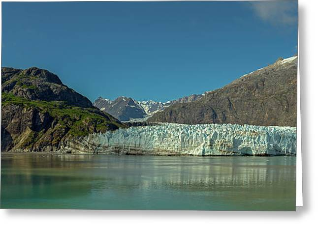 Greeting Card featuring the photograph Panorama Of Glacier Bay, Alaska by Brenda Jacobs