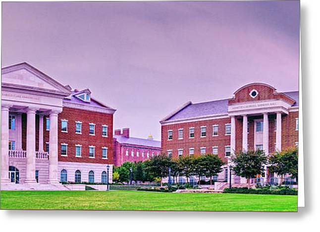 Panorama Of Harold Clark And Annette Caldwell Simmons Hall - Southern Methodist University - Dallas Greeting Card
