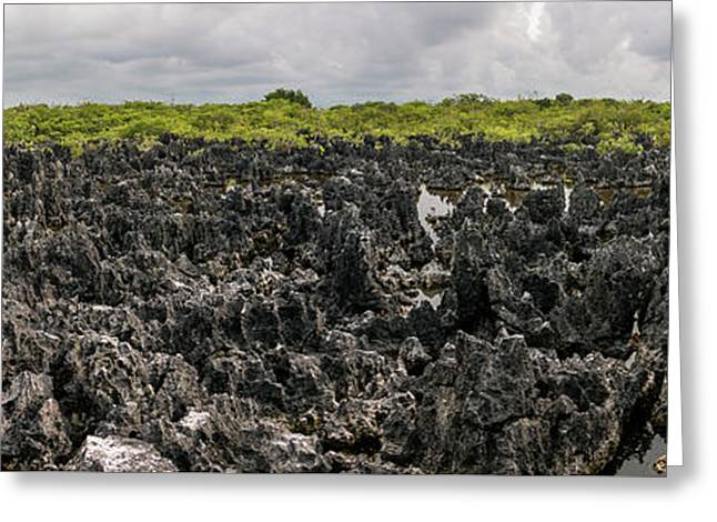 Panorama Of Hell - Grand Cayman Greeting Card