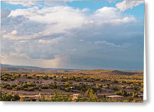 Panorama Of Jemez Mountains And Cochiti Lake Recreation Area - Cochiti Pueblo New Mexico Greeting Card