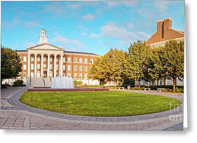 Panorama Of Laura Lee Blanton Building At Southern Methodist University - Dallas Texas Greeting Card
