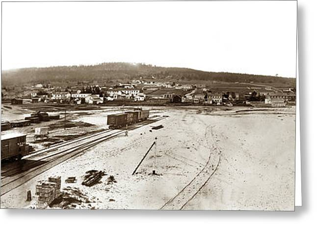 Watkins Panorama Of Monterey, California 1882 Greeting Card by California Views Mr Pat Hathaway Archives