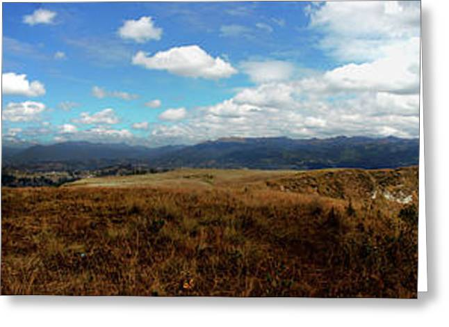 Panorama Of Pachamama IIi Greeting Card