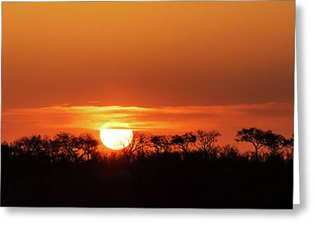 Panorama Of South African Sunset Greeting Card