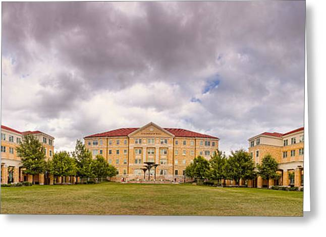 Panorama Of Texas Christian University Campus Commons - Fort Worth - Texas Greeting Card