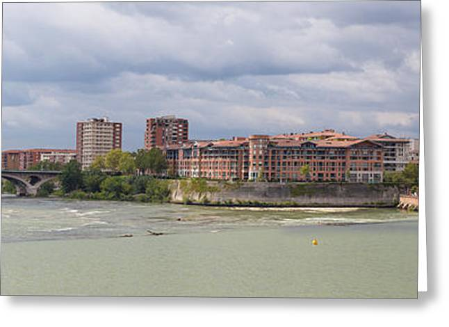 Panorama Of The Hydroelectric Power Station In Toulouse Greeting Card by Semmick Photo