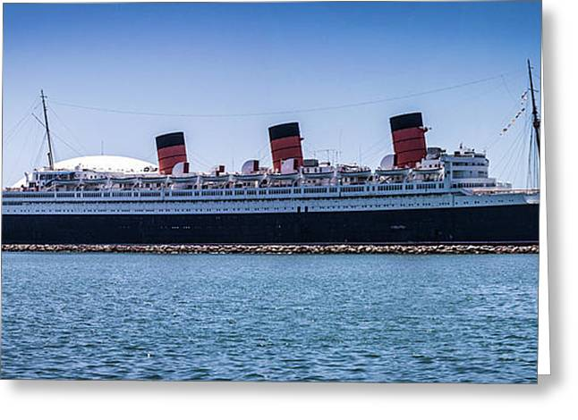 Panorama Of The Queen Mary Greeting Card