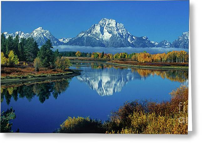 Panorama Oxbow Bend Grand Tetons National Park Wyoming Greeting Card