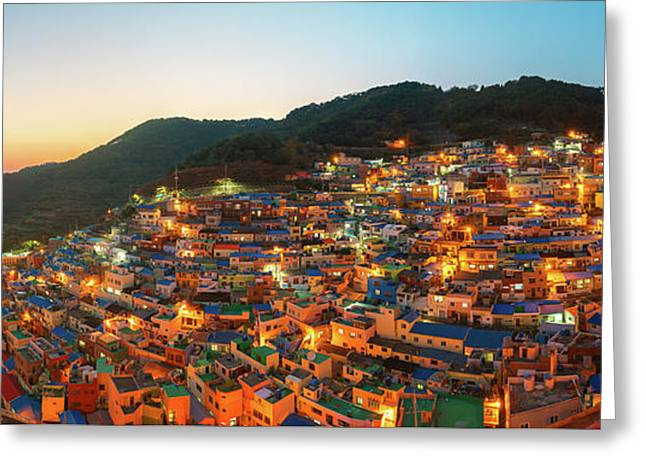 Panorama Photo Of Gamcheon Village In Busan City Greeting Card