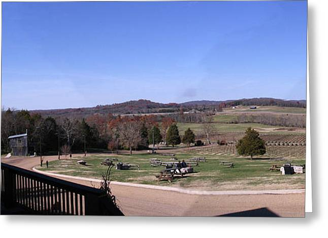 Panorama View At Arrington Vineyards Greeting Card by Marian Bell