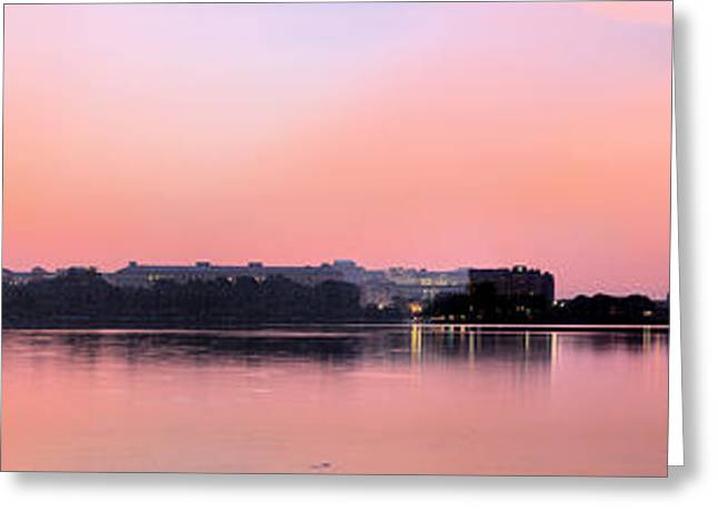 Panoramic Dawn Greeting Card by JC Findley